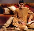 SW770 Brown Jamawar Sherwani