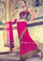 SR043 Deep pink Saree