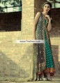 AK6840 Chamoisee Persian Green Sap Green Crinkle Chiffon Banarasi Jamawar Raw Silk Anarkali Dress