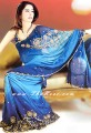 SR012 Royal Blue Charmeuse Silk Saree