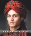 TB731 Elegant Red Turban
