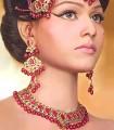 EJ313 Ruby Gemstones Evening Jewellery