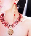 CJ603 Red Stones Jewellery