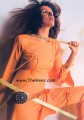 CW638 Orange Raw Silk Shalwar Kameez