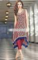 PW6772 Burgundy Crinkle Chiffon Raw Silk Party Dress