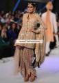 SC6851 Light Apricot Tan Crinkle Chiffon Banarasi Crinkle Chiffon Silk Dress With Dhoti Shalwar