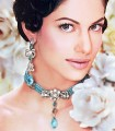 EJ558 Capri Blue Gemstone Evening Jewellery