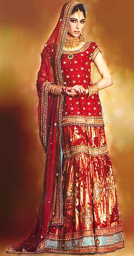 bw6964 dark red gharara latest indian pakistani bridal