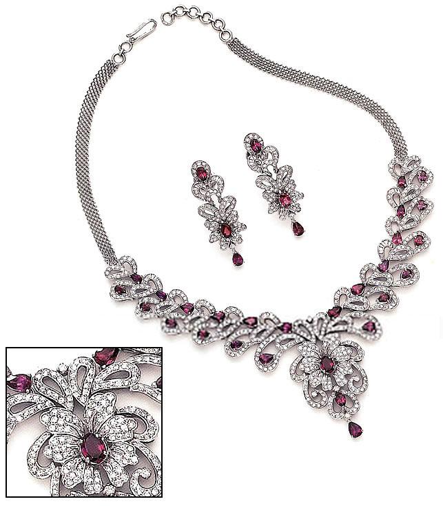 jw131 cubic zircon jewellery asian wedding jewellery jewelry