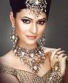 JW173 Golden Gemstones Necklace Party Jewellery