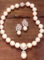 JW688 Ivory Pearls Diamond Like Jewellery