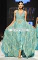 MX6646 Bright Cerulean Crinkle Chiffon Banarasi Jamawar Wedding Maxi