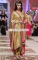 PW6960 Metallic Gold Deep Pink Charmeuse Silk Party Dress