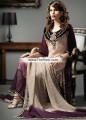 PW6790 Desert Sand Dark Palatinate Purple Light Khaki Crinkle Chiffon Embroidered Chiffon Crepe Silk Party Dress
