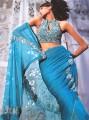 SR329 Blue Ombre Saree