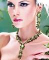 JW016 Fern Green And Olivine Gemstones Party Jewellery
