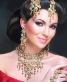 JW013 Golden Party Jewellery