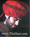 TB417 Red And Maroon Banarsi Jamawar Turban