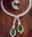 JW689 Green Gemstones Diamond Like Jewellery