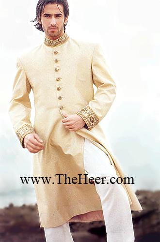 Sw789 Cream Sherwani Sherwani For Wedding Men S Sherwani