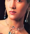 EJ361 Capri Blue Gemstone Evening Jewellery