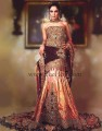 BW6680 Seal Brown, Dip dyed Pink And Two Toned Shades Velvet & Banarasi Jamawar Lehenga