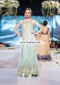 AK7301 Blizzard Blue Crinkle Chiffon Raw Silk Anarkali
