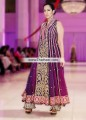 AK7528 Palatinate Purple Tyrian Purple Crinkle Chiffon Anarkali