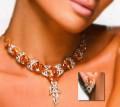 JW758 Orange Zircon Party Jewellery