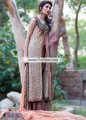 SC6849 Light Khaki Palatinate Purple Light Atomic Tangerine Crinkle Chiffon Banarasi Jamawar Sharara
