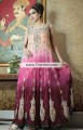 AK6899 Apricot Hot Pink Dark Prune Crinkle Chiffon Banarasi Jamawar Crepe Silk Anarkali Dress