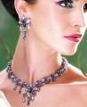 EJ017 Dark Indigo And Provence Lavender Gemstones Evening Jewellery