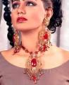 JW056 Rubby Gemstones Party Jewellery
