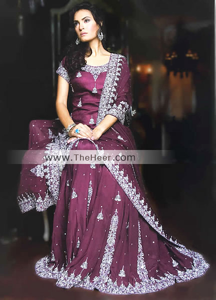 Bw6278 palatinate purple crinkle chiffon sharara indian for Indian wedding guest dresses uk