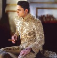 SW543 Golden Sherwani
