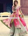 SC6766 Cerise Pink Celadon Crinkle Chiffon Banarasi Crinkle Chiffon Sharara