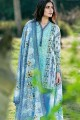 GAW- Blue 2 Pc Printed Lawn Stiched Suit