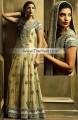 BW5491 Flavescent Satin Sheen Gold Banarasi Jamawar Crinkle Chiffon Gown