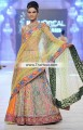 BW6136 Multicolour Fancy Net Crinkle Chiffon Banarasi Jamawar Lehenga