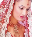EJ851 Red And Golden Crystal Evening Jewellery