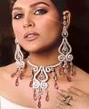JW084 Rose Gemstones Diamond Like Jewellery