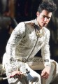 SW426 Off White Raw Silk Sherwani