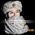 TB4976 Camel & Silver Turban