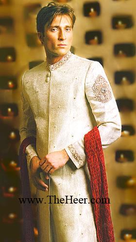 b155a31821 SW825 Off White Sherwani Mens Sherwani manufacturers,exporters of Indian  Pakistani Wedding Sherwani, Mens Sherwani suppliers, Bright Shades