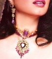 EJ322 White And Purple Gemstone Evening Jewellery
