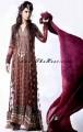 SC6502 Dark cordovan Crinkle Chiffon Anarkali Style