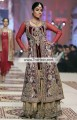 BW6020 Gold Metallic Bulgarian Rose Brown Crinkle Chiffon Velvet Banarasi Jamawar Sharara