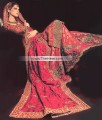 BW6390 Alizarin Crimson, Amaranth & Seal brown Banarasi Jamawar Sharara