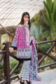 GAW-Magenta 3 Piece Embroidered Lawn Stiched Suit