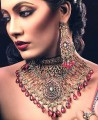 JW079 Ruby Gemstones Necklace Party Jewellery